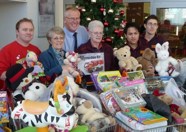 Toys and Teens Appeal 2013 - Trolley-loads of toys have already been donated by generous Reading folk!
